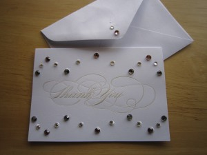 Embellished Thank You Card