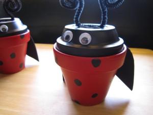 Clay-pot Ladybug Creation