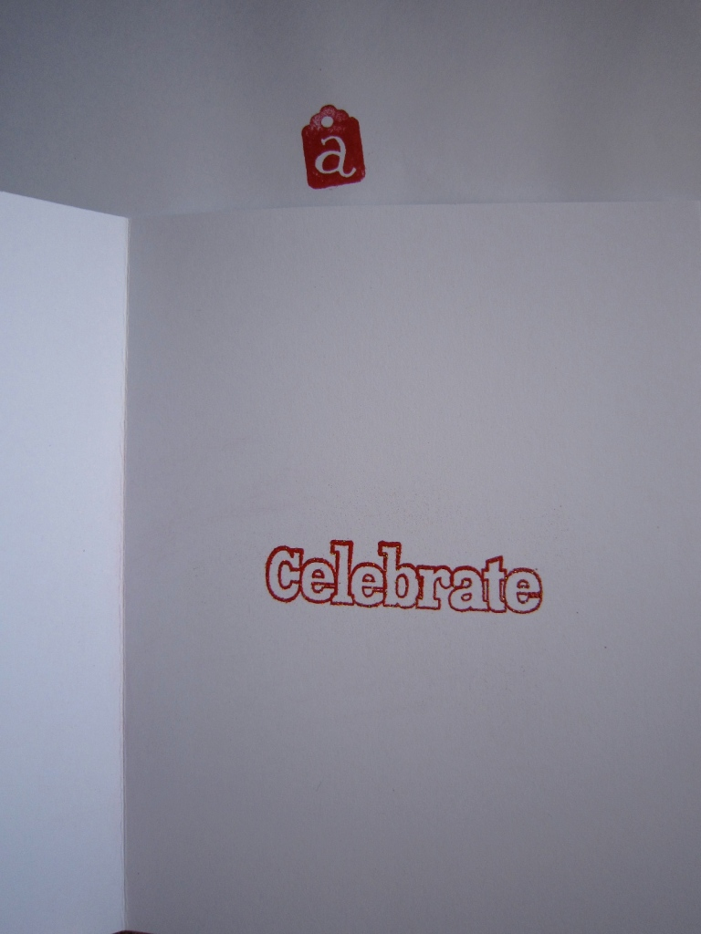 """Celebrate"" message inside the ""You did it!"" card"