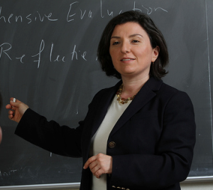 California State Assembly Candidate Nayiri Nahabedian in the classroom