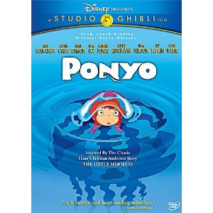 "DVD cover to ""Ponyo"""