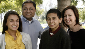 Photo of State Assembly Candidate, Sunder Ramani and his family