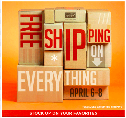FREE Stampin' Up Shipping